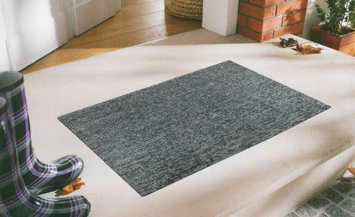 范登伯格 魯伯PVC刮泥地墊-07素灰-45x70cm