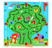 磁性運筆迷宮走珠玩具1-2-3歲寶寶益智力開發兒童早教木制飛行棋 【八折搶購】
