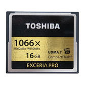 【免運費】 東芝 TOSHIBA EXCERIA PRO 16GB 1066X CF 記憶卡(富基公司貨,讀160MB/s、寫150MB/s,UDMA7) 16g