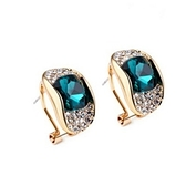 水晶耳環-鑲鑽奢華生日情人節禮物女飾品5色73fl32【時尚巴黎】