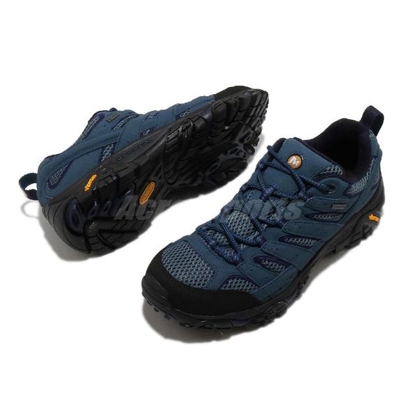 Merrell 戶外鞋 Moab 2 GTX 藍 黑 男鞋 Gore-Tex 防水 透氣 越野 休閒鞋 運動鞋 【ACS】 ML034787