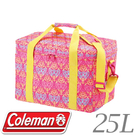 【Coleman 美國 25L紅葉圖騰保冷袋】CM- 22229/保冷袋/保冰袋
