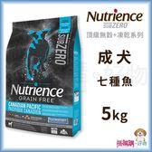 Nutrience紐崔斯『 SUBZERO無穀犬+凍乾 (七種魚)』5kg【搭嘴購】