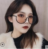秒殺太陽眼鏡女韓版潮gm新款復古墨鏡網紅大框圓臉街聖誕交換禮物
