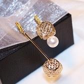 耳環 玫瑰金純銀珍珠-幾何方形生日情人節禮物女飾品73ca155【時尚巴黎】