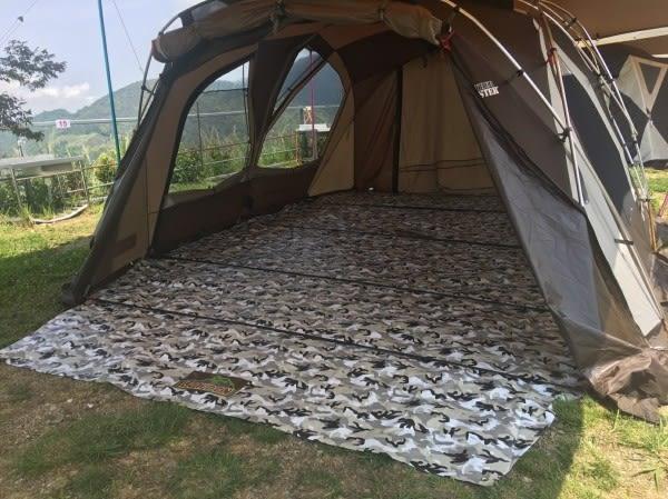 LOWDEN超耐磨夾層前庭延伸地墊(切角款)300x150 cm (迷彩系)