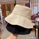 帽子女韓版春夏新款漁夫帽女日系百搭遮陽防曬可摺疊蕾絲透氣盆帽  一米陽光