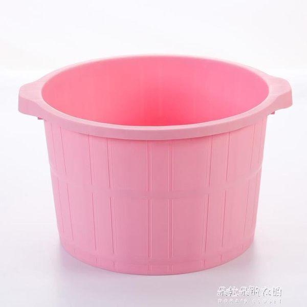 塑料加厚按摩足浴桶加高足療桶泡腳桶足浴盆家用泡足洗腳盆 朵拉朵衣櫥