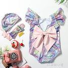 ins燙金可愛兒童泳衣女溫泉連體泳裝女童寶寶嬰兒公主美人魚泳衣 好再來小屋