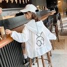 女童防曬衣薄款夏季2021新款洋氣兒童空調衫外套中大童透氣防曬服 一米陽光