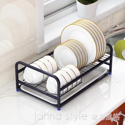 304不銹鋼碗架瀝水架碗碟碗盤架單層架盤子架廚房收納架置物架 新品全館85折 YTL