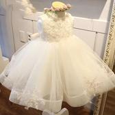 兒童禮服 女童洋裝2019新款夏裝韓版洋氣表演禮服蓬蓬紗裙兒童連衣裙童裝