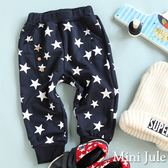 Mini Jule男童 長褲 滿版星星印花造型三鈕釦鬆緊長褲(共2款)