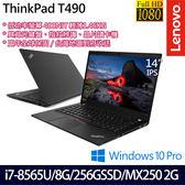 【ThinkPad】T490 20N2CTO6WW 14吋i7-8565U四核MX250 2G獨顯專業版商務筆電(三年保固)