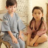和服 夏季女孩全棉短袖男女和服套裝男孩可愛寶貝男童薄款兒童棉質睡衣 【中秋搶先購】