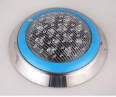 泳池壁燈戶外低壓12v圓形七彩噴泉led水底燈防水照明水下射燈12瓦 格蘭小舖igo