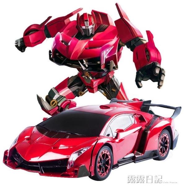 手勢感應變形遙控汽車金剛充電動大黃蜂機器人賽車兒童男孩玩具車 露露日記