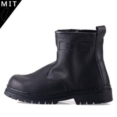 男款 MIT 鋼板防穿刺 耐油 耐磨止滑 側邊拉鍊 牛皮 安全鞋 工作靴 59鞋廊