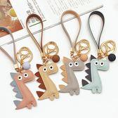 鑰匙圈韓國可愛創意小恐龍鍊卡通掛件汽車男女士情侶包包簡約潮流   初見居家