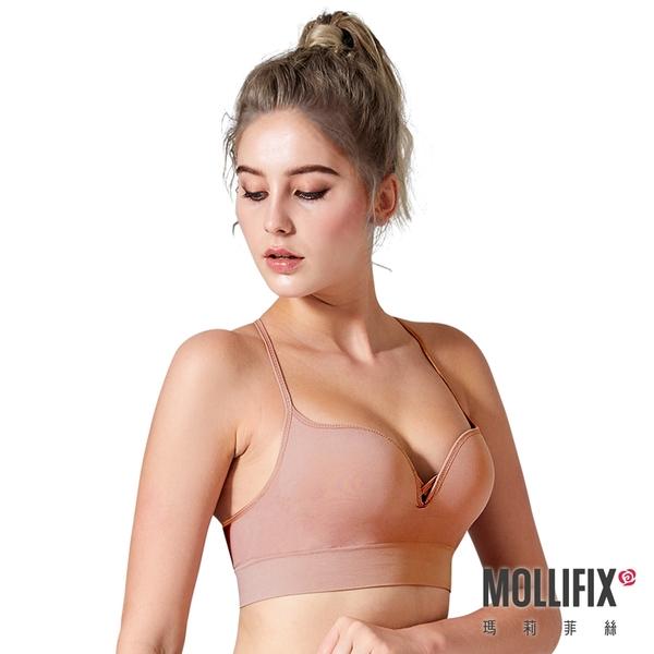 Mollifix瑪莉菲絲 好動細肩帶美胸BRA (乾燥玫瑰)