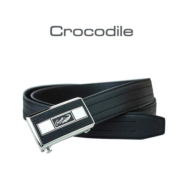【全新品公司貨】Crocodile 鱷魚 牛皮可微調西裝皮帶自動皮帶【寧寧小舖/台中30年老店】859-1