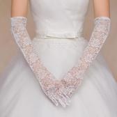 蕾絲手套白色紅色結婚手套