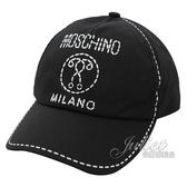 茱麗葉精品【新進品牌 獨家價】MOSCHINO HPX001 品牌LOGO棉質棒球帽/鴨舌帽.黑