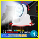自動感應! 360度旋轉調整感應燈 1入 LED燈超省電 抬燈/照明燈-賣點購物※24