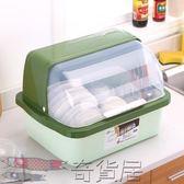 碗柜塑料廚房瀝水碗架帶蓋碗碟架放碗箱碗筷餐具收納盒碗盤置物架