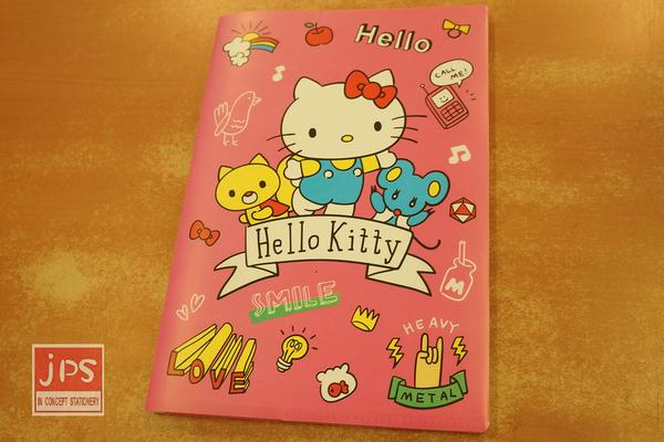 Hello Kitty 凱蒂貓 25K方便萬用包筆記本 橫線 收納包 桃 958653
