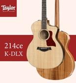 【非凡樂器】Taylor 214CE-K-DLX 電木吉他 / 民謠吉他 / 贈原廠背帶+超值配件包 / 公司貨