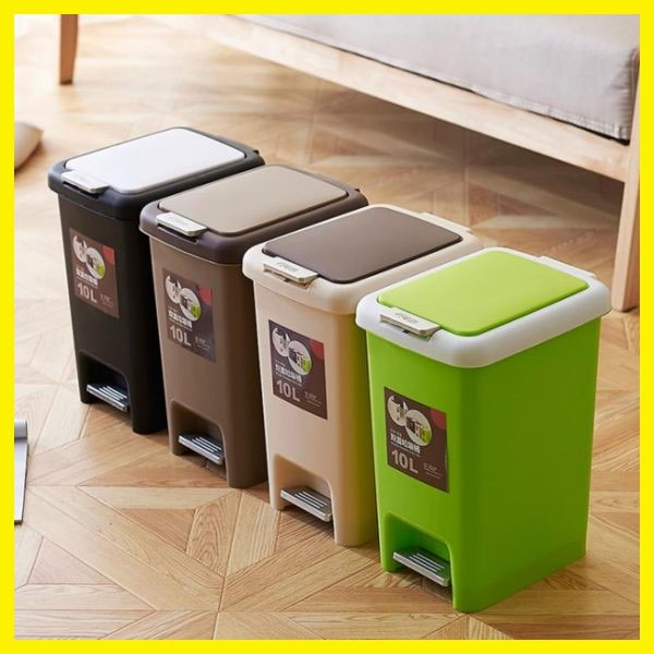 家用大號垃圾桶手按腳踏式帶蓋加厚衛生間客廳廚房辦公室垃圾桶
