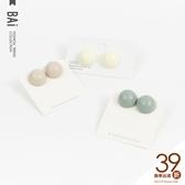 耳環 復古半圓形幾何風S925銀針耳飾-BAi白媽媽【196162】