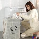 【貝貝】折疊洗衣籃 棉麻洗衣籃 臟衣簍 衣服收納筐 支架式 布藝 折疊式 臟衣籃