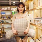 卡通可拆洗孕婦靠枕腰枕汽車辦公室 椅子靠背護腰墊腰枕腰靠『櫻花小屋』