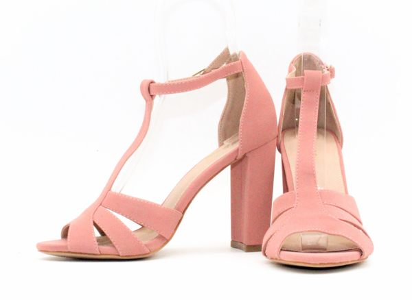 GLAZE 原色女神T字繫帶鏤空金屬釦帶繫踝高跟涼鞋-3色『粉色下標區』