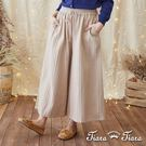 【UFUFU GIRL】鬆緊腰綁帶剪裁穿搭無負擔,復古流行寬版長褲!