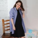 ■Natural Label■  落肩七分袖剪裁 具有慵懶氣質的長版洋裝 單獨穿搭也是很有特色!
