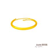 J'code真愛密碼 經典情緣黃金手環-小/立體硬金款