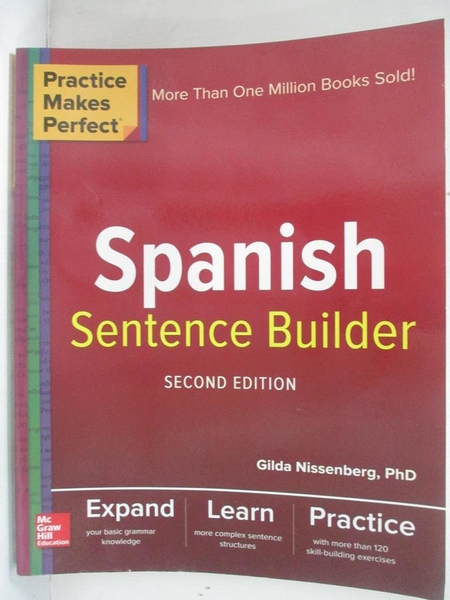 【書寶二手書T6/語言學習_J8N】Spanish Sentence Builder_Nissenberg, Gilda