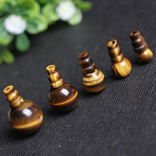 [超豐國際]水晶飾品配件黃虎眼石三通佛頭半成品手鏈手工配件材1入
