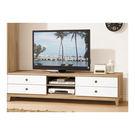 【森可家居】金美6尺電視櫃 7ZX368-4 長櫃 視聽櫃 白色 木紋質感 日式 日系 無印風 北歐風