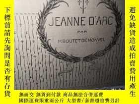 二手書博民逛書店約1923年大開本兒童讀物罕見Jeanne D Arc par M. Boutet De Monvel 彩色插圖