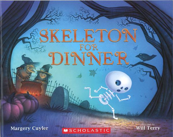 【麥克書店】SKELETON FOR DINNER/ 平裝繪本《主題: 萬聖節》