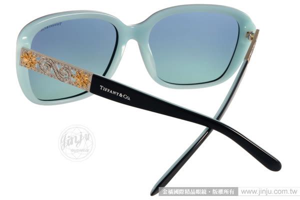 Tiffany&CO.太陽眼鏡 TF4120B 80559S (黑-蒂芬妮綠) 典雅時尚魅力方框款 # 金橘眼鏡