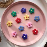 耳環 彩色花朵耳環土味韓版太陽花耳釘可愛甜美耳飾
