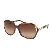 COACH 金屬雙C玳瑁太陽眼鏡(深棕色)