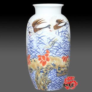 景德鎮陶瓷器釉青花鬥彩花瓶