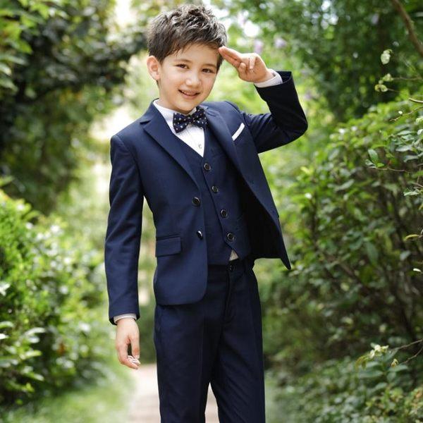 兒童禮服 新款兒童小西裝套裝小花童外套男孩禮服  萬客居
