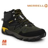 【Merrell】男款 HIKING 郊山健行鞋 ALL OUT BLAZE 2 MID GTX  - 墨綠黑(42421)【全方位運動戶外館】